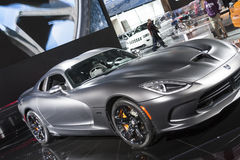 DETROIT - JANUARY 26 :The 2014 Dodge SRT Viper at The North Amer Stock Photography