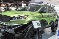 DETROIT - JANUARY 17 :The 2017 Kia PacWest Adventure Sorento Con. Cept at The North American International Auto Show January 17, 2016 in Detroit, Michigan Stock Images