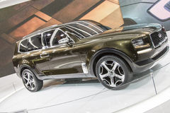 DETROIT - JANUARY 17 :The 2017 Kia Telluride concept at The Nort Stock Photos