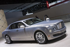 DETROIT - JANUARY 26 :The new 2015 Bentley Mulsanne at The North Royalty Free Stock Images