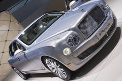 DETROIT - JANUARY 26 :The new 2015 Bentley Mulsanne at The North Royalty Free Stock Image