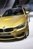 DETROIT - JANUARY 26 :The new 2015 BMW M4 coupe at The North Ame Stock Photography