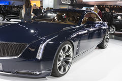 DETROIT - JANUARY 26 :The new Cadillac Elmiraj Concept car at Th Royalty Free Stock Photos