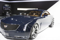 DETROIT - JANUARY 26 :The new Cadillac Elmiraj Concept car at Th Stock Photography