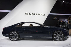 DETROIT - JANUARY 26 :The new Cadillac Elmiraj Concept car at Th Royalty Free Stock Photo