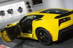 DETROIT - JANUARY 26 :The new 2015 Corvette Stingray Z06 superca Stock Photos