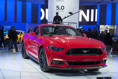 DETROIT - JANUARY 26 :The new 2015 Ford Mustang at The North Ame Royalty Free Stock Image