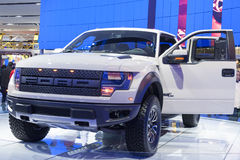 DETROIT - JANUARY 26 :The new 2015 Fprd raptor f150 pickup truck Royalty Free Stock Images