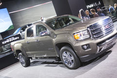 DETROIT - JANUARY 26 :The new 2015 GMC Canyon truck at The North Stock Image