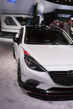 DETROIT - JANUARY 26 :The new 2014 Mazda Club Sport 3 Concept at Stock Photography