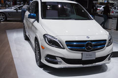 DETROIT - JANUARY 26 :The new 2014 Mercedes-Benz B-Class Electri Stock Image