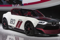 DETROIT - JANUARY 26 :The Nissan IDx NISMO concept car at The No Stock Photography