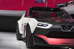 DETROIT - JANUARY 26 :The Nissan IDx NISMO concept car at The No Stock Photos