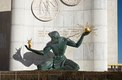 Spirit of Detroit Statue in Downtown Detroit Royalty Free Stock Photos