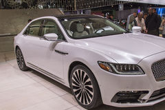 DETROIT - 17 JANVIER : Lincoln 2017 continental au nord Image stock