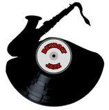 Detroit Jazz Music Silhouette Record Lizenzfreie Stockbilder
