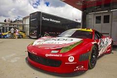 DETROIT - JUNE 2: The Ferrari at the 2013 Detroit. Grand Prix on June 2, 2013 in Detroit, Michigan, USA stock image