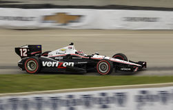 DETROIT - JUNE 2: The Go Daddy Indy car speeds by  Royalty Free Stock Photography