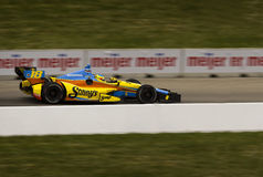 DETROIT - JUNE 2: The Sonnys Indy car speeds by at Royalty Free Stock Photo