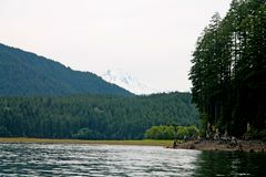 Detroit Lake in Oregon. A view of the Detroit Lake near Salem in Oregon, United States Royalty Free Stock Photography
