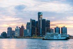 Detroit linia horyzontu zdjęcie stock