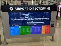 Detroit lotniska książka telefoniczna zdjęcie stock