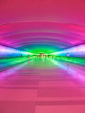 Detroit Lotniskowy przejście - Neonowy Obraz Stock
