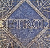 Detroit manhålräkning Royaltyfri Bild