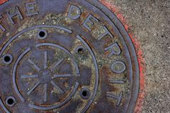 Detroit manhole Obraz Stock