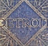 Detroit Manhole Cover royalty free stock image