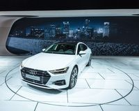 2018 Audi A7 Quattro, NAIAS Royalty Free Stock Images