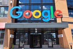 Detroit Google office next to Little Caesars Arena. DETROIT, MI / USA - JUNE 30, 2019:  Google's new office near Little Caesars arena in Detroit, shown royalty free stock image