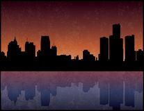 Detroit Michigan Fotografia Stock Libera da Diritti