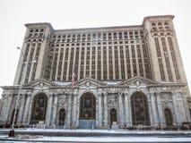 Detroit Michigan centralstation Arkivbilder