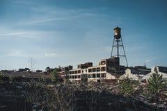 Detroit, Michigan, Estados Unidos - octubre de 2018: Vista de la planta automotriz abandonada de Packard en Detroit El Packard imagenes de archivo