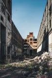Detroit Michigan, Förenta staterna - Oktober 2018: Sikt av den övergav Packard automatiska växten i Detroit Packarden arkivbild