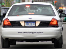 Detroit Michigan Police Department Royalty Free Stock Image