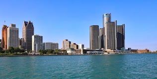 Detroit, Michigan. The skyline of downtown Detroit, Michigan/USA royalty free stock image