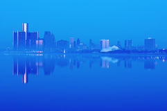 Detroit, Michigan Skyline at Night Royalty Free Stock Photography