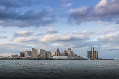 Detroit Michigan skyline Stock Photos