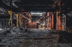 Free Detroit, Michigan, United States - October 18 2018: View Of The Abandoned Gray Iron Factory In Detroit. Detroit Gray Stock Photos - 141593963