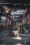 Detroit, Michigan, United States - October 18 2018: View of the abandoned Gray Iron Factory in Detroit. Detroit Gray. Iron Foundry was one of several foundry royalty free stock image
