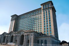 Detroit, Michigan USA, April 8, 2018, Michigan Central Station, MCS, Detroit Train Depot Stock Photography