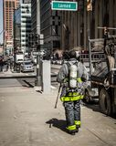 Detroit Fire Department Truck On The Streets Of Downtown Detroit stock photography