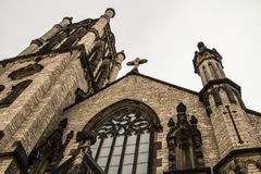 Gothic Detroit Michigan Neighborhood Church Stock Images