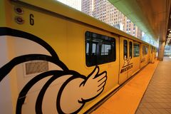 Detroit Michigan People Mover Public Transportation System Stock Image