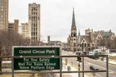 Historic Downtown Detroit Michigan Neightborhood stock photography