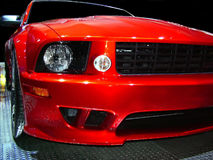 Detroit Muscle Car. A sportscar at the Detroit auto show royalty free stock photo