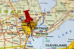 Detroit nel Michigan, U.S.A. Fotografie Stock Libere da Diritti