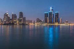 Detroit at night Stock Images